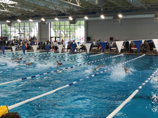 The 3A and 4A state swim meets were   Saturday at the Carson Aquatic Center.