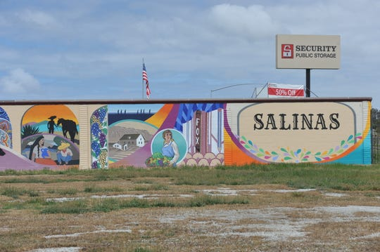 The Security Public Storage mural in Salinas is meant to be seen right to left from the perspective of northbound travelers on Highway 101.