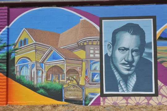 References to Salinas novelist John Steinbeck are seen throughout the Security Public Storage mural.