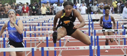 Padua junior Jia Anderson, one of the state's top sprinters and hurdlers, is trying to stay in shape with home workouts as Delaware schools as closed through May 15 to help stop the spread of the coronavirus.
