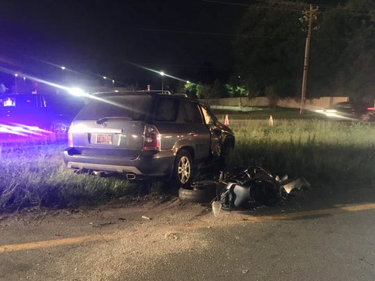 A motorcyclist was killed in a crash on U.S. 13 near New Castle Saturday night, State Police said.