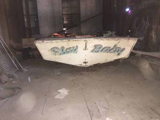 """Play Baby"" snipe sailboat found in downtown Wichita Falls attic."