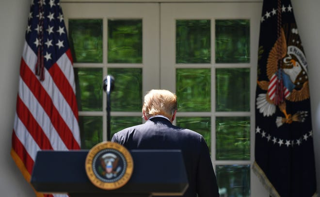 President Donald Trump at the White House on May 16, 2019.