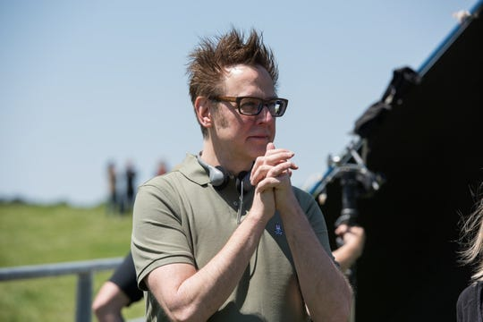 "Producer James Gunn on the set of ""Brightburn."" He recently was rehired to direct a third ""Guardians of the Galaxy"" movie."
