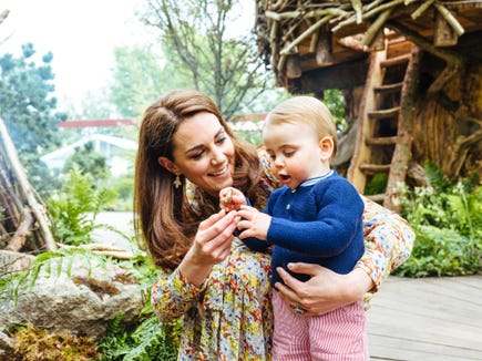 Louis gets an up-close look at some of the flora from the special garden his mom, Duchess Kate of Cambridge, created for the Chelsea Flower Show.