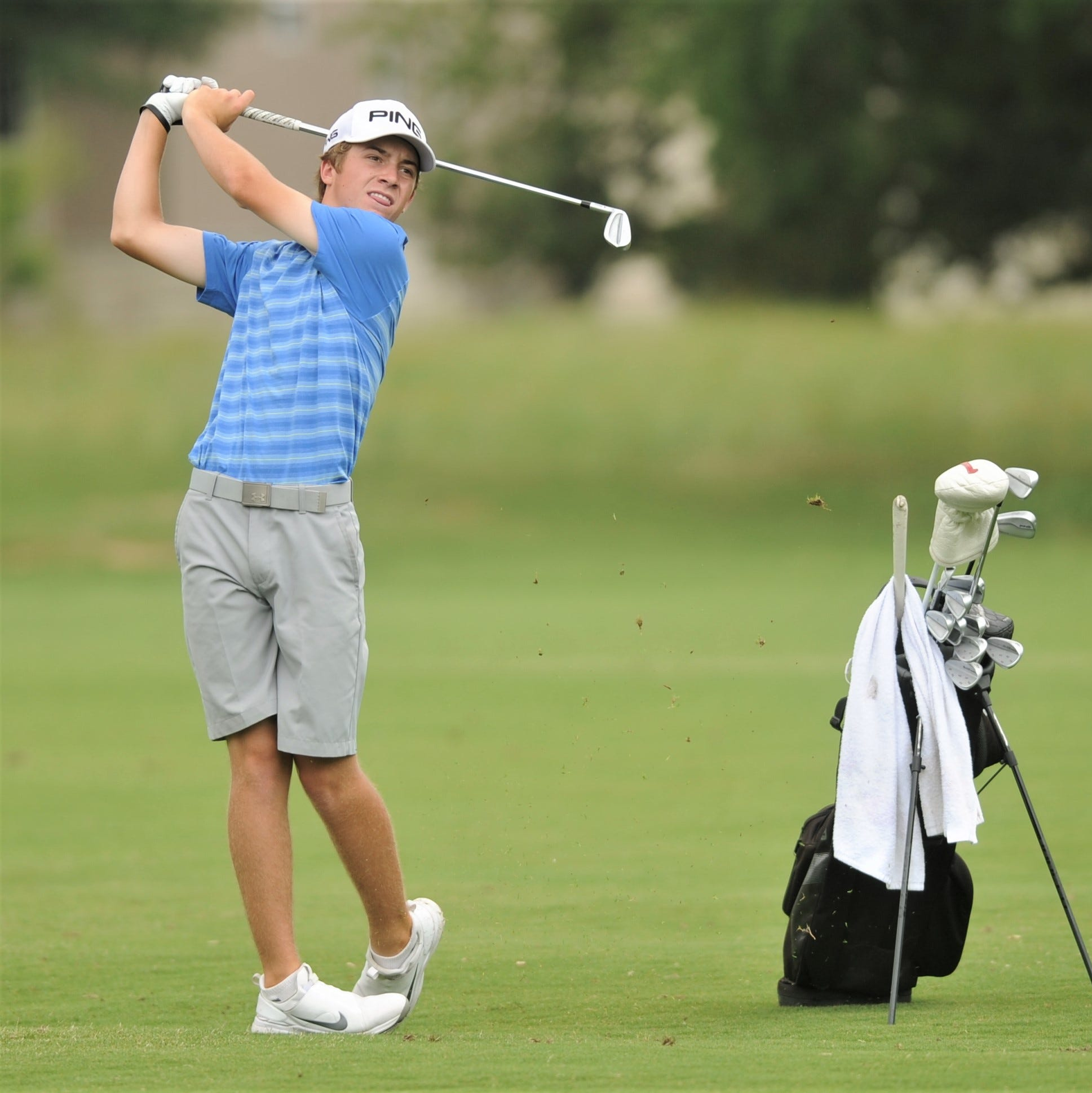 Wind blows Abilene Cooper freshman Grigsby off course on Day 1 of 5A state golf tournament