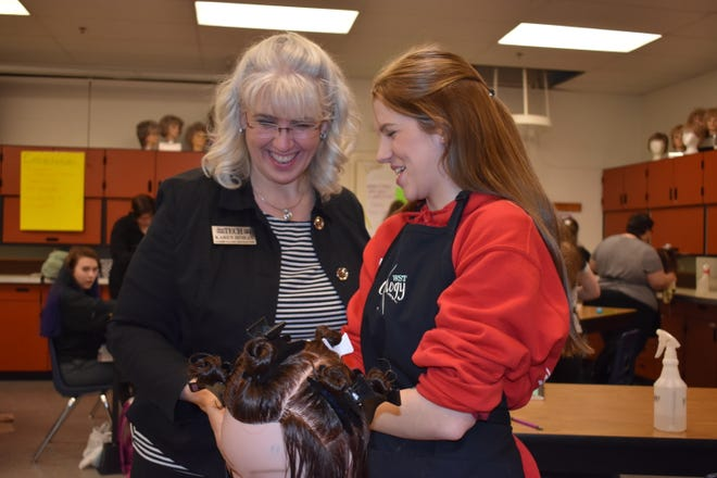 Karen Horan teaches cosmetology at West Sound Tech Skill Center in Bremerton.