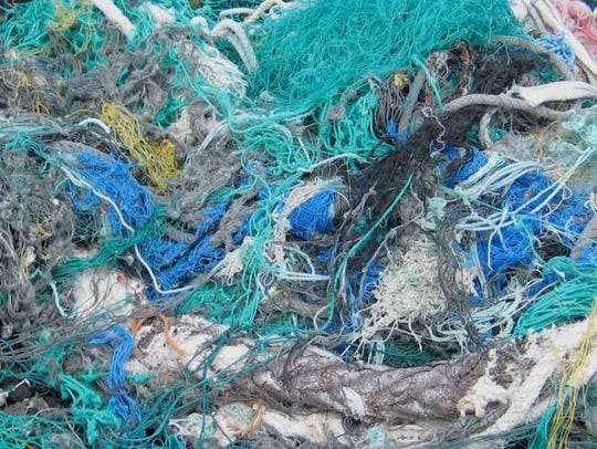 Discarded fishing nets can remain death traps for decades.