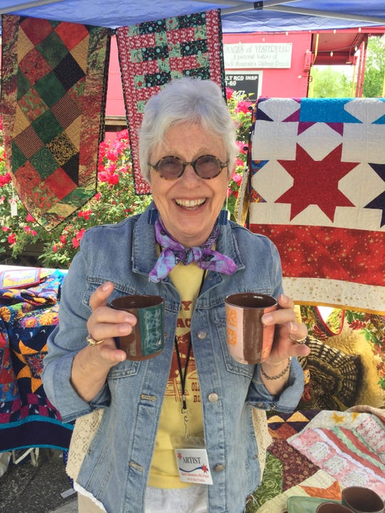 Barbara Wall will return to Art by the Tracks on June 1, when the annual Old Depot Association fundraiser will be held on Sutton Avenue, beginning at 10 a.m.