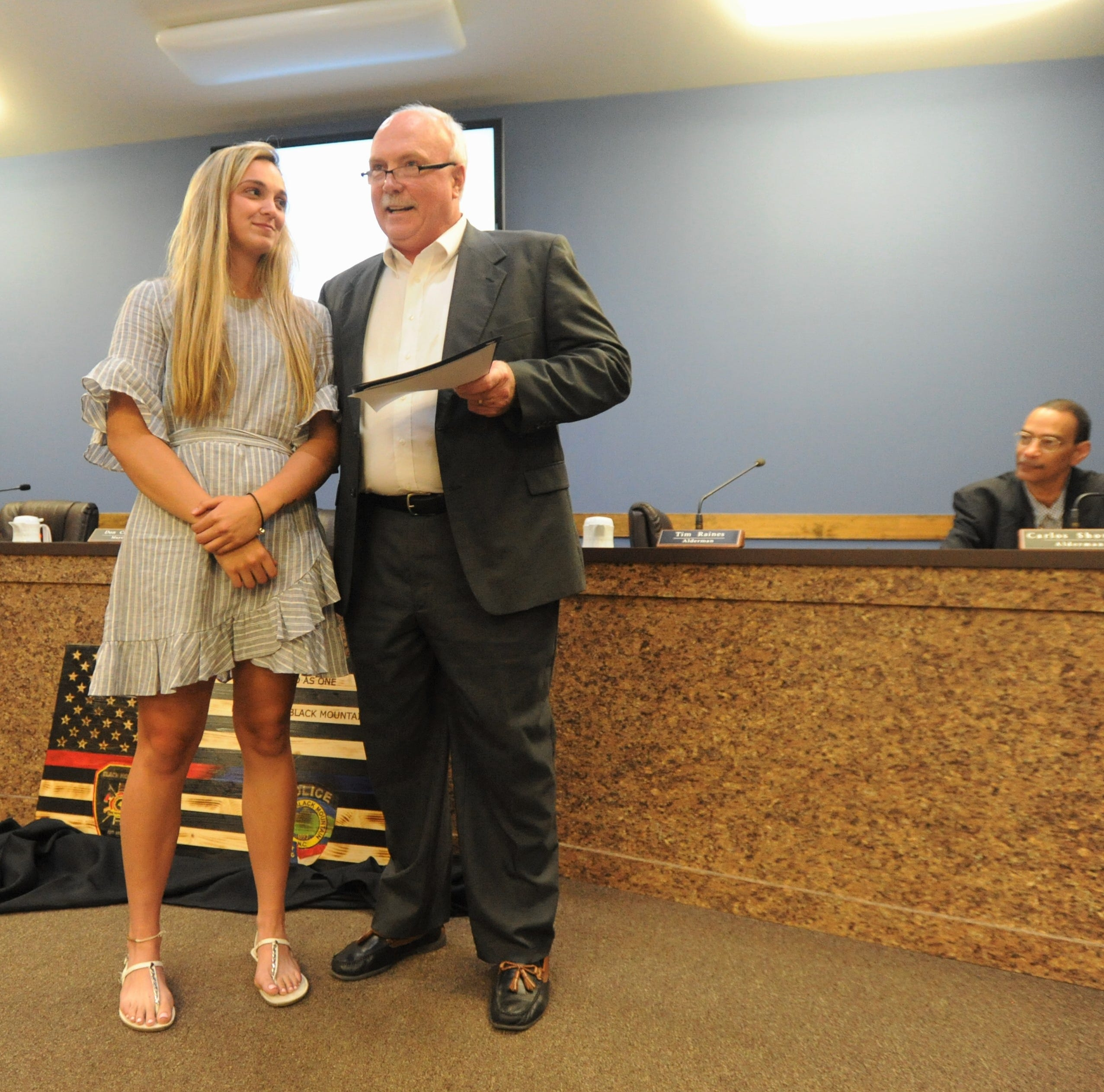 Town of Black Mountain recognizes Chesney Gardner with proclamation