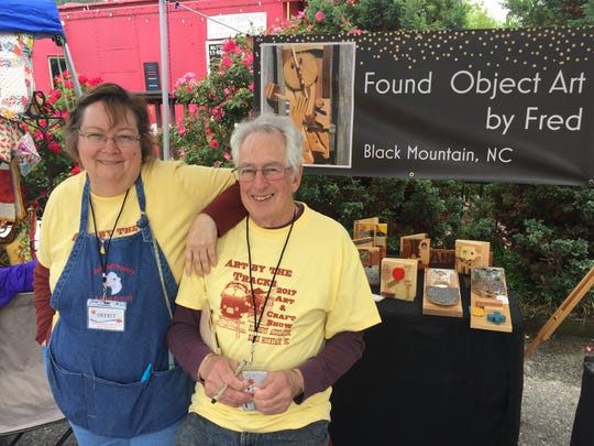 Fred and Lyn Feldman, of Found Object Art by Fred, will be among the more than 50 artists featured this year at Art by the Tracks, which returns on June 1.