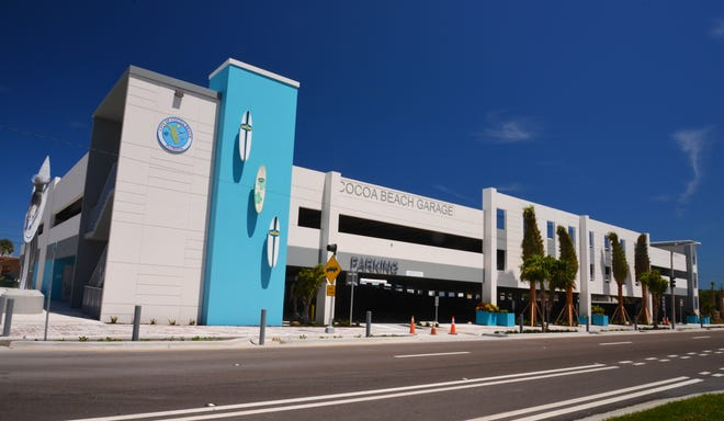 The $5.2 million Cocoa Beach parking garage in downtown Cocoa Beach.