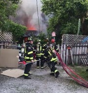 At 7:18 p.m., firefighters with the Titusville Fire Department and Brevard County Fire Rescue responded to a report of a fire at a home in the 200 block of Willow Street.
