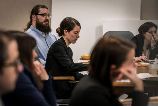 Steven Bourgeon listens to testimony from Dr. Paul Cotton on Monday, May 20, 2019, in Vermont Superior Court in Burlington. Bourgoin is charged with five counts of second-degree murder in the wrong-way crash on Interstate 89 in Williston that killed five teenagers.
