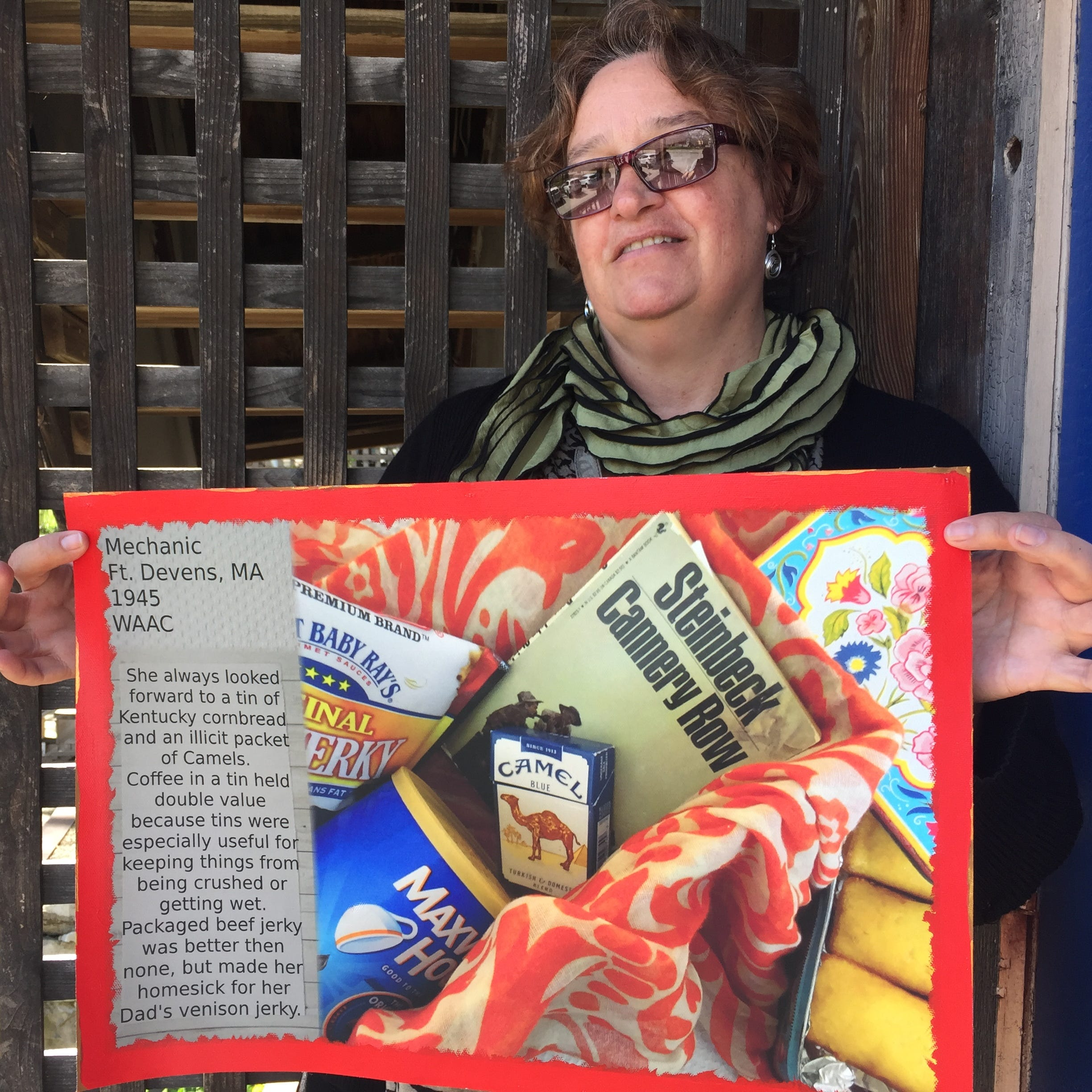 Members of the military love receiving food from home. A Shelburne woman shows that in art.