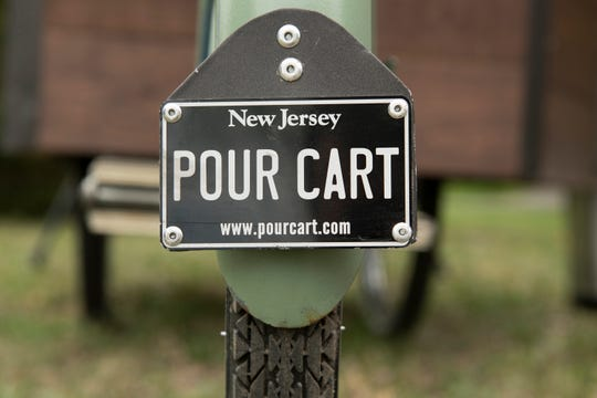 David Cornwell of Sicklerville and his father Dave Cornwell of Clementon, converted a vintage bicycle into The Pour Cart, a liquid catering company.