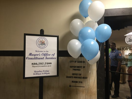 The new Office of Constituent Services at Camden City Hall opened Monday.