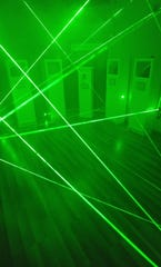 An inside look at one of the escape rooms at Go Free Yourself where participants must disarm a laser trap and find a way to steal a diamond.