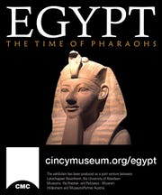 """The Time of the Pharaohs"" exhibit."