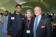 School of Arts and Sciences graduate Sridhar Sriram with Francis Harper Barchi and President Robert Barchi at the reception for the Matthew Leydt Society.