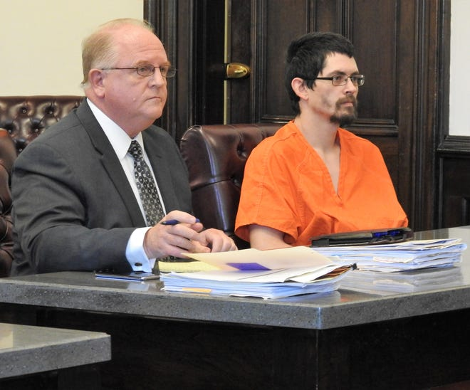 Chase A. Heath of Newark, along with his  defense attorney Jeffrey Mullen, where back in court this week. Heath was sentence  to 47 months in prison for tampering with evidence and receiving stolen property.