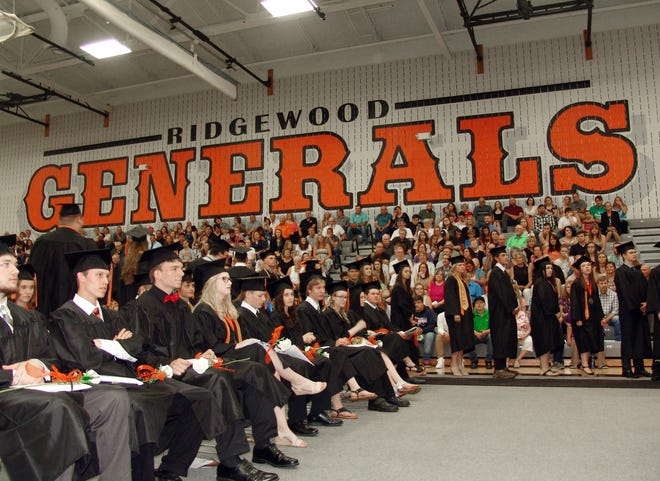Ridgewood High School held its graduation on Saturday. Nearly 100 students graduate in the class of 2019. The district also honored the top 5 percent of the class, Hope Asbury, Raquel Foster, Alexandra Incarnato, Sophia Kobel, Morgan Matis. To view more photos, visit www.coshoctontribune.com.
