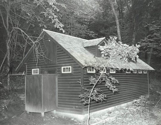 "From 1937: This new building at the YMCA camp near Boone houses a new $1,500 sewage system. At the time it was called ""one of the chief features of the camp."""