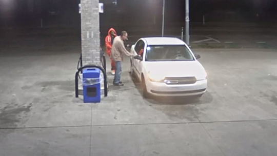 Two men seen in Project Green Light surveillance video shared by Detroit police, are wanted in connection to a fatal shooting that happened Sunday.