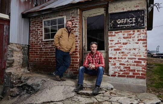 Frank Fritz, left, and Mike Wolf of American Pickers on History.