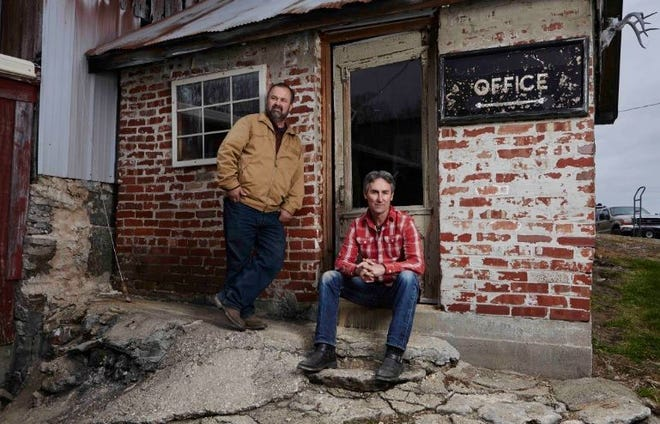 Frank Fritz, left, and Mike Wolfe of American Pickers on History.