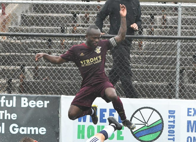 Cyrus Saydee scored on a penalty kick in Detroit City FC's 4-0 road victory over Napa Valley 1839 FC on Saturday.