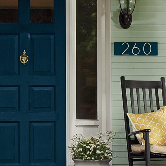 Painted house numbers are a fun way to guide your guests and accentuate the exterior of your home.