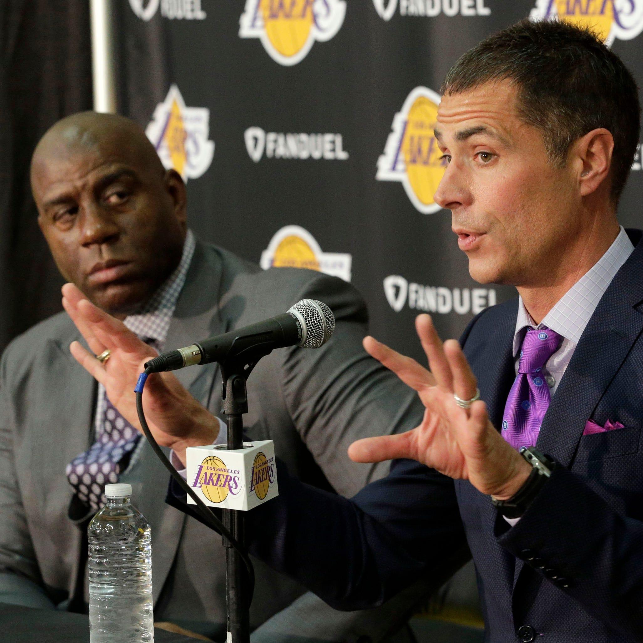 Magic Johnson says Rob Pelinka's 'backstabbing' part of reason for leaving Lakers