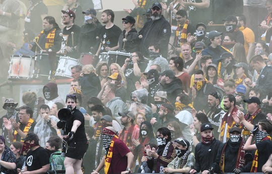 A crowd of 6,872 watched Detroit City FC's victory Friday.