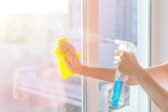 You can clean windows yourself, but a professional window cleaner saves time and can handle the exterior safely.