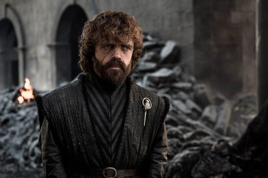 "Peter Dinklage in a scene from the final episode of ""Game of Thrones."""