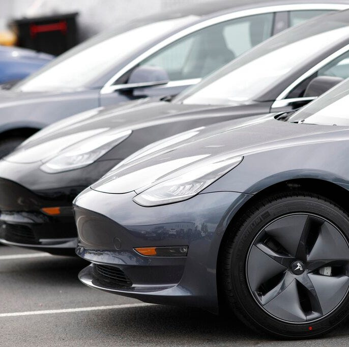Tesla stock falls as concerns about demand for Model 3 rise