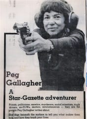 "Longtime journalist Margaret ""Peg"" Gallagher is featured in a March 8, 1979 Star-Gazette promo ad."