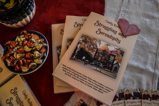 """""""Struggling with Serendipity"""" tells the story of Cindy Kolbe and her daughter, Beth, who was paralyzed in an automobile accident when Cindy, exhausted from a long day in Columbus, fell asleep at the wheel. The book details Beth's hope and determination, from her earliest days of rehab at the former St. Francis Health Care Centre – now Eden Springs Nursing & Rehabilitation – in Green Springs."""