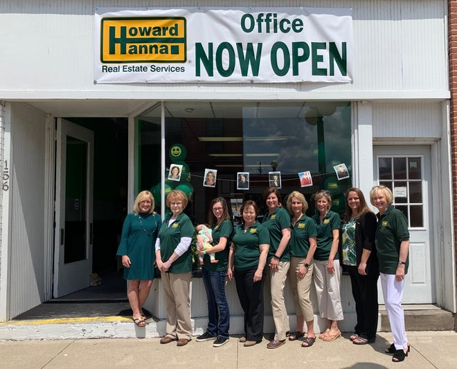 Howard Hanna Real Estate held a ribbon cutting ceremony May 16 for the company's new Oak Harbor location. Pictured L to R: Melissa Crockett Willis-V.P & West Regional Manager, Bernie Hammer-Agent, Alissa Miller-Agent, Suzanne Miller-Agent, Nicole Sweet-Agent, Cherie Salazar-Agent, Jennifer Behnke-Agent, Stacy Barron-Administrative Assistant & Mary Ann Gesci-Area Office Manager