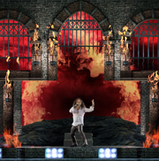"The Ronnie James Dio hologram performs ""Heaven and Hell"""