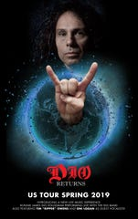 "The tour poster for the new ""DIO Returns"" hologram tour"