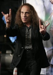 "Ronnie James Dio arrives for the 2006 premiere of the movie ""Tenacious D in the Pick of Destiny."""