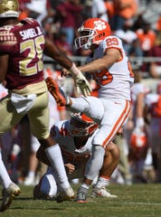 B.T. Potter (29), who was Clemson's kickoff specialist in 2018, also will be counted on for field goals and PATs in 2019.