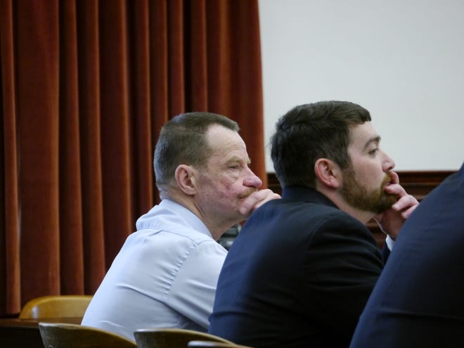Gary Hansen, left, accused of raping a young girl in 2013, was back in court Monday after the Montana Supreme Court declared a judge's acceptance of his plea agreement unlawful.