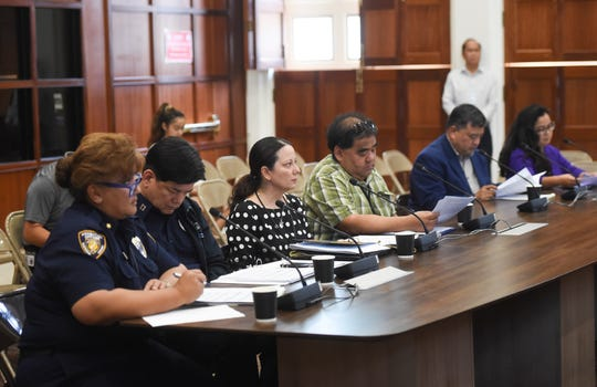 A public hearing is held for the Judiciary of Guam's status update on the Sex Offender Registry and Risk Assessments for release and sentencing of criminal sexual conduct offenders at the Guam Congress Building in Hagåtña on May 20, 2019.