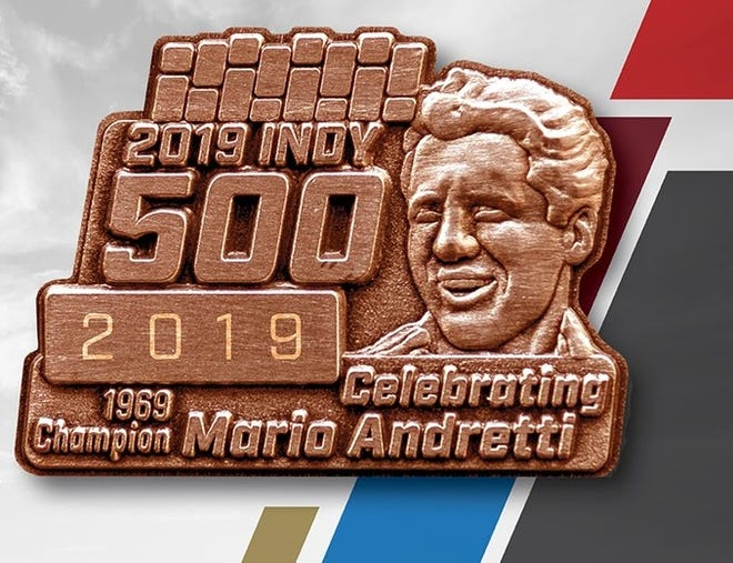 The Bronze Badge honors Mario Andretti's historic victory at the Indy 500 in 1969.