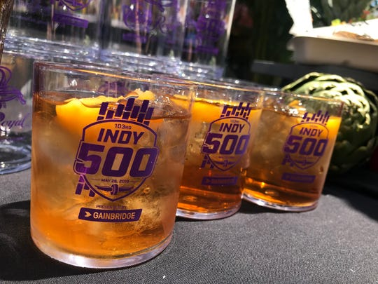 Brickyard Tea blends Crown Royal Peach Canadian whiskey, grilled peaches and black tea for a sweet drink with a kick at Indianapolis Motor Speedway for the 2019 Indy 500.