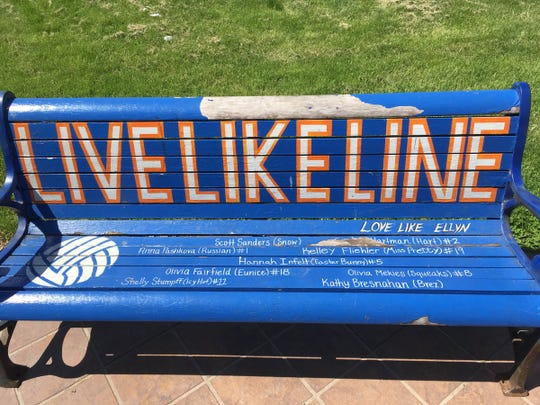 The bench memorializing Caroline Found has been moved to West High School until construction is finished downtown in fall of 2019.
