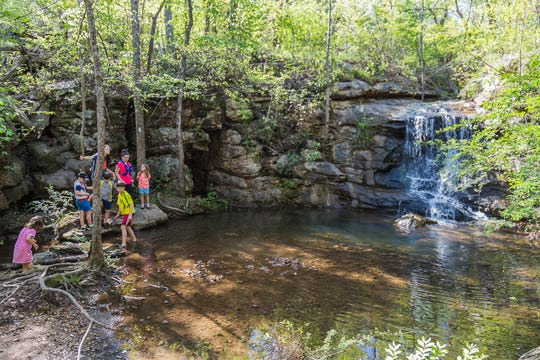 Moss Rock Preserve provides a more tranquil outdoor experience in Hoover than the baseball games will.